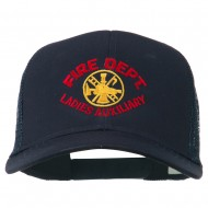 Fire Dept Ladies Auxiliary Embroidered Mesh Cap - Navy