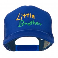 Little Brother Embroidered Youth Foam Mesh Cap - Royal