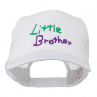 Little Brother Embroidered Youth Foam Mesh Cap - White