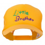 Little Brother Embroidered Youth Foam Mesh Cap - Gold