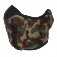 Camo Fleece Half Face Mask - Green