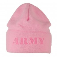 Laser Fleece US Military Short Beanie - Army Pink