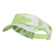 Ladies Fit Tie Dyed Visor - Lime White