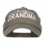 I'm a Professional Grandma Embroidered Low Cap - Olive