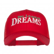Big League Dreams Embroidered Trucker Cap - Red