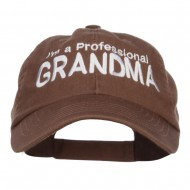I'm a Professional Grandma Embroidered Low Cap - Brown