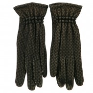 Lace Lined Texting Gloves - Black
