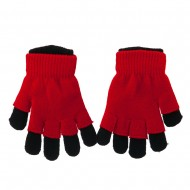 Ladies 3 in 1 Magic Glove - Black Red