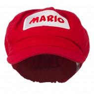 Big Size Rectangle Mario and Luigi Embroidered Cotton Newsboy Cap - Red