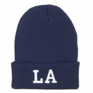 LA Louisiana State Embroidered Long Beanie - Navy