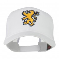 Lion Emblem Embroidered Cap - White