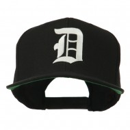 Large Old English D Embroidered Cap - Black