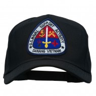 US Naval Support Activity Patched Cap - Black