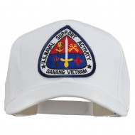US Naval Support Activity Patched Cap - White