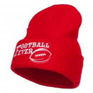 Football Fever Embroidered Long Beanie - Red