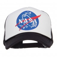NASA Lunar Patched Foam Mesh Cap - Black White