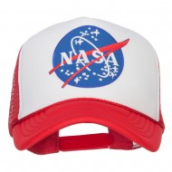 NASA Lunar Patched Foam Mesh Cap - Red White