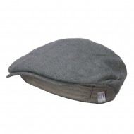 Men's Linen Summer Ivy Cap - Slate Grey