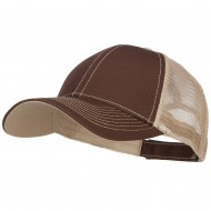 Low Profile Structured Trucker Cap-Brown Tan
