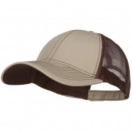 Low Profile Structured Trucker Cap-Khaki Brown