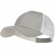 Low Profile Structured Trucker Cap-Lt Grey White