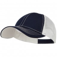 Low Profile Structured Trucker Cap-Navy White