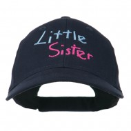 Youth Little Sister Embroidered Cotton Cap - Navy