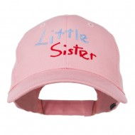Youth Little Sister Embroidered Cotton Cap - Pink