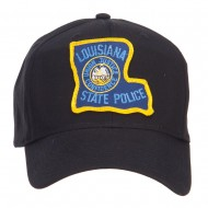Louisiana State Police Patched Cap - Black