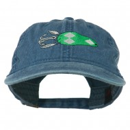 Fishing Bass Lure Embroidered Washed Cap - Navy