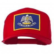 Louisiana State High Profile Patch Cap - Red