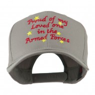 Loved One in Armed Forces Embroidered Cap - Grey