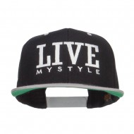 Live Mystyle Embroidered Two Tone Snapback - Black Silver