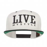 Live Mystyle Embroidered Two Tone Snapback - Natural Black