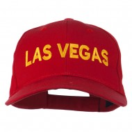 Las Vegas Embroidered Low Profile Cap - Red