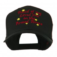 Loved One in Armed Forces Embroidered Cap - Black