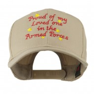 Loved One in Armed Forces Embroidered Cap - Khaki