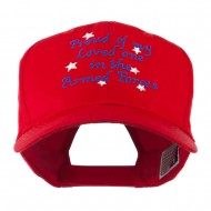 Loved One in Armed Forces Embroidered Cap - Red