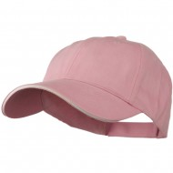 Low Profile Light Weight Brushed Twill Cap - Pink White
