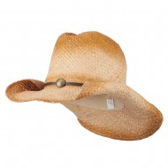 Women's Stained Raffia Cowboy Hat - Natural