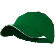 Low Profile Light Weight Brushed Twill Cap - Kelly Green White
