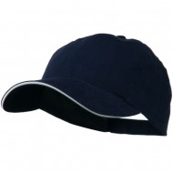 Low Profile Light Weight Brushed Twill Cap - Navy White