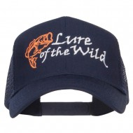 Lure of the Wild Embroidered Mesh Cap - Navy