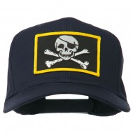 Jolly Roger Skull Military Patched Cap - Navy
