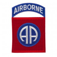 Mixed Airborne Patches - Red Blue