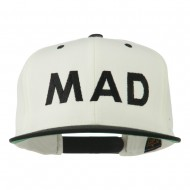 Mad Embroidered Two Tone Snapback Cap - Natural Black