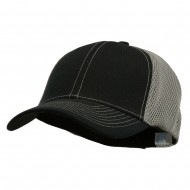 Brushed Cotton Mesh Moisture Absorbing Cap - Black Grey