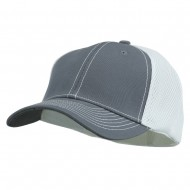 Brushed Cotton Mesh Moisture Absorbing Cap - Charcoal White
