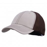 Brushed Cotton Mesh Moisture Absorbing Cap - Khaki Brown