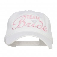 Team Bride Embroidered Dyed Cotton Cap - White